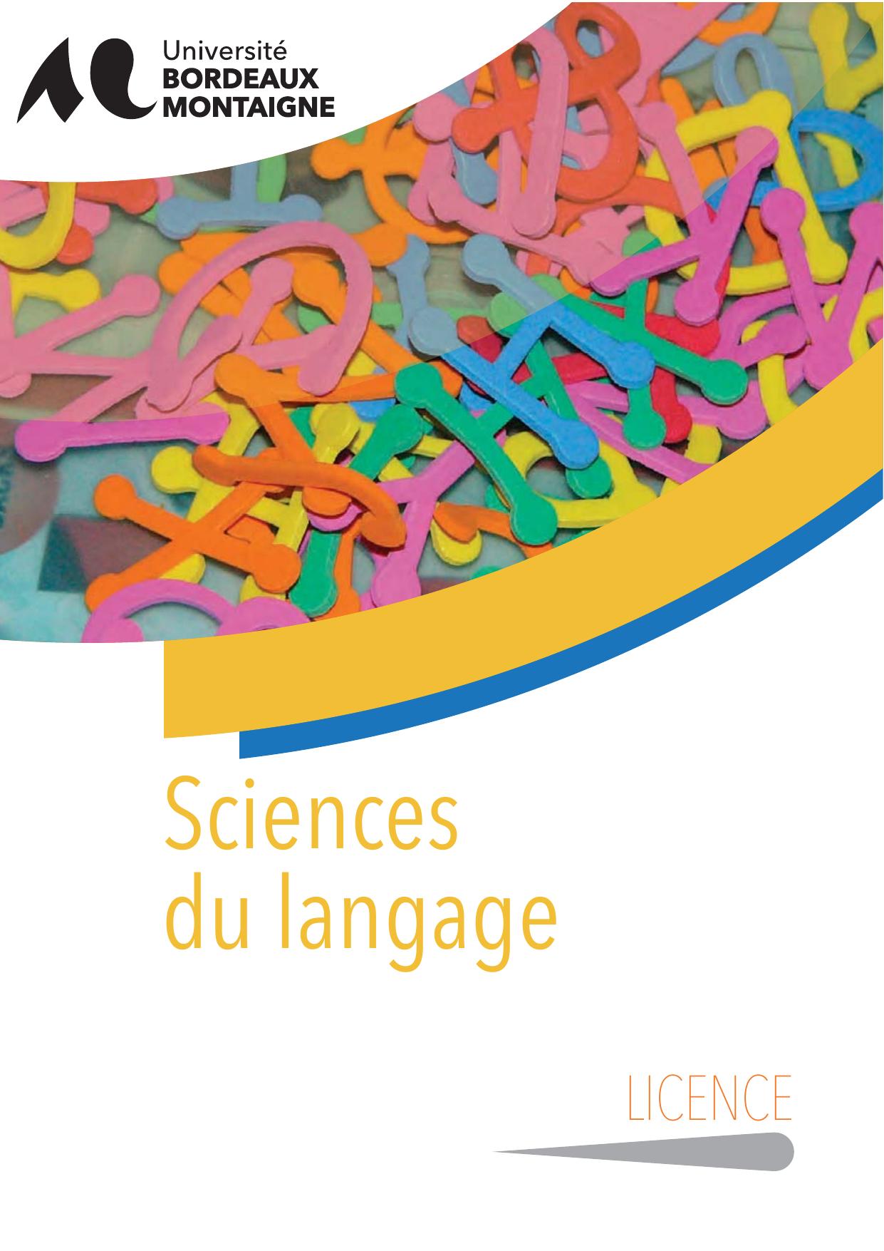 Licence Sciences Du Langage Universite Bordeaux Montaigne