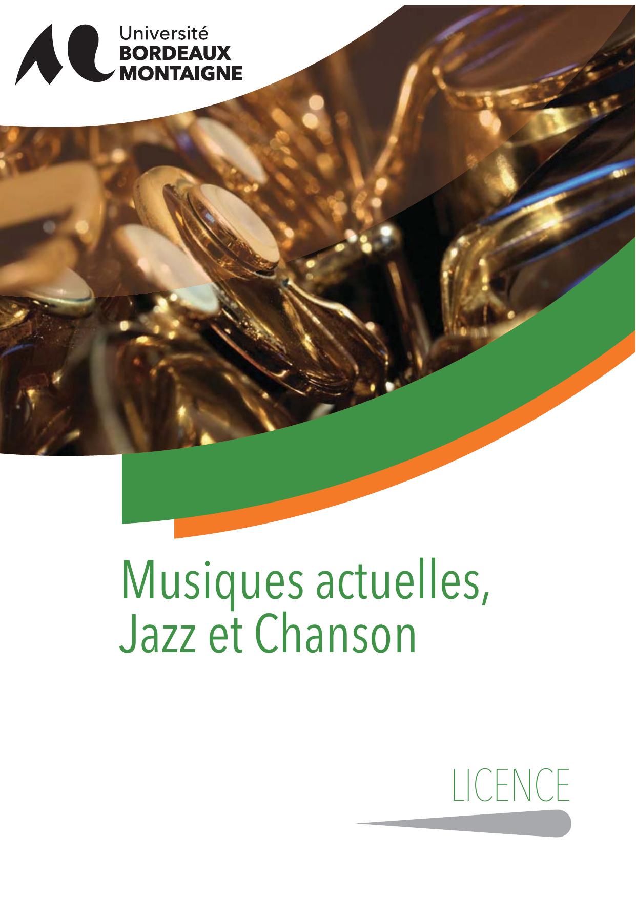 licence 3 musique actuelles  jazz et chanson