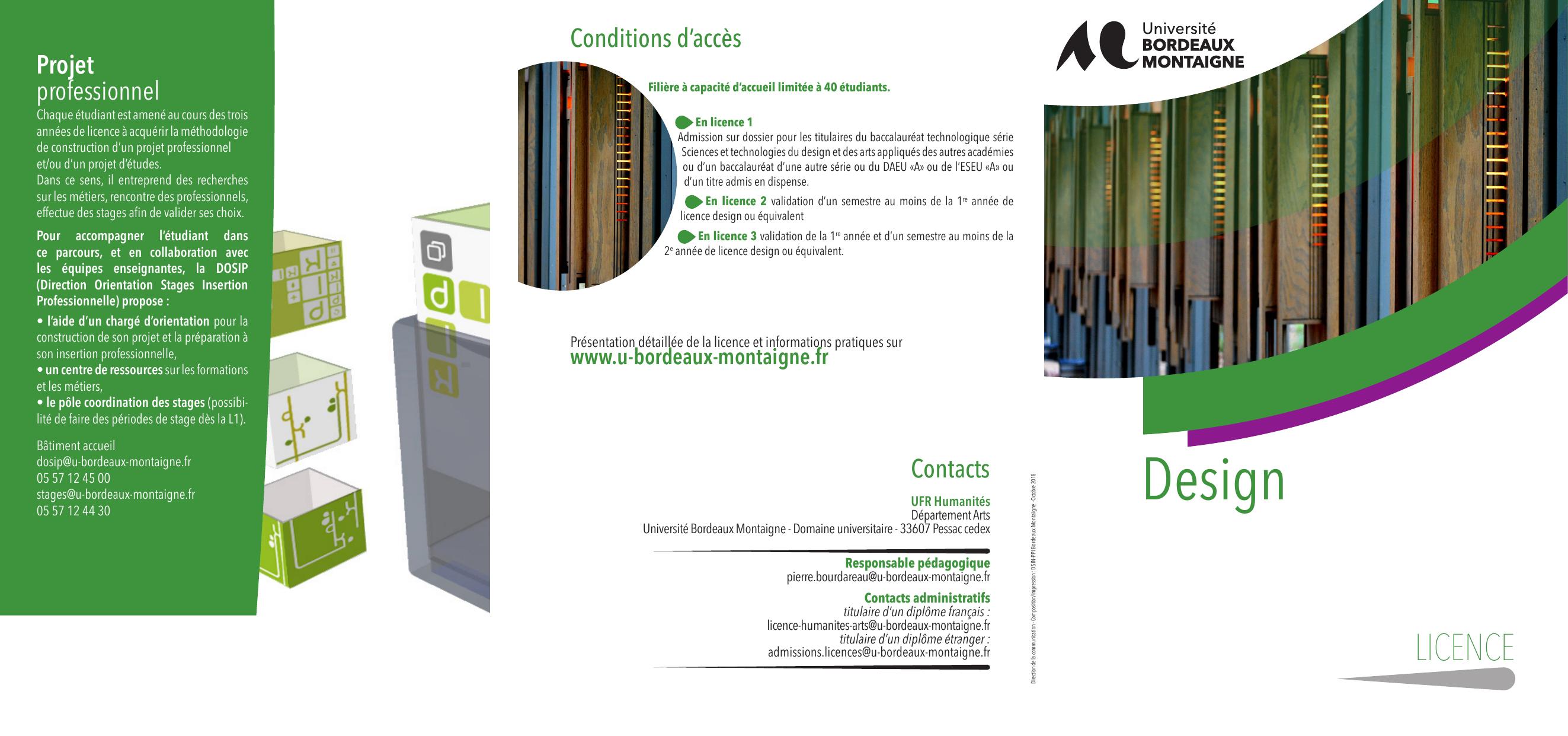 licence 3 design