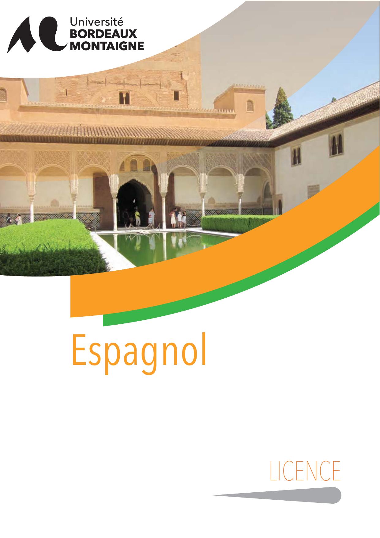 licence espagnol