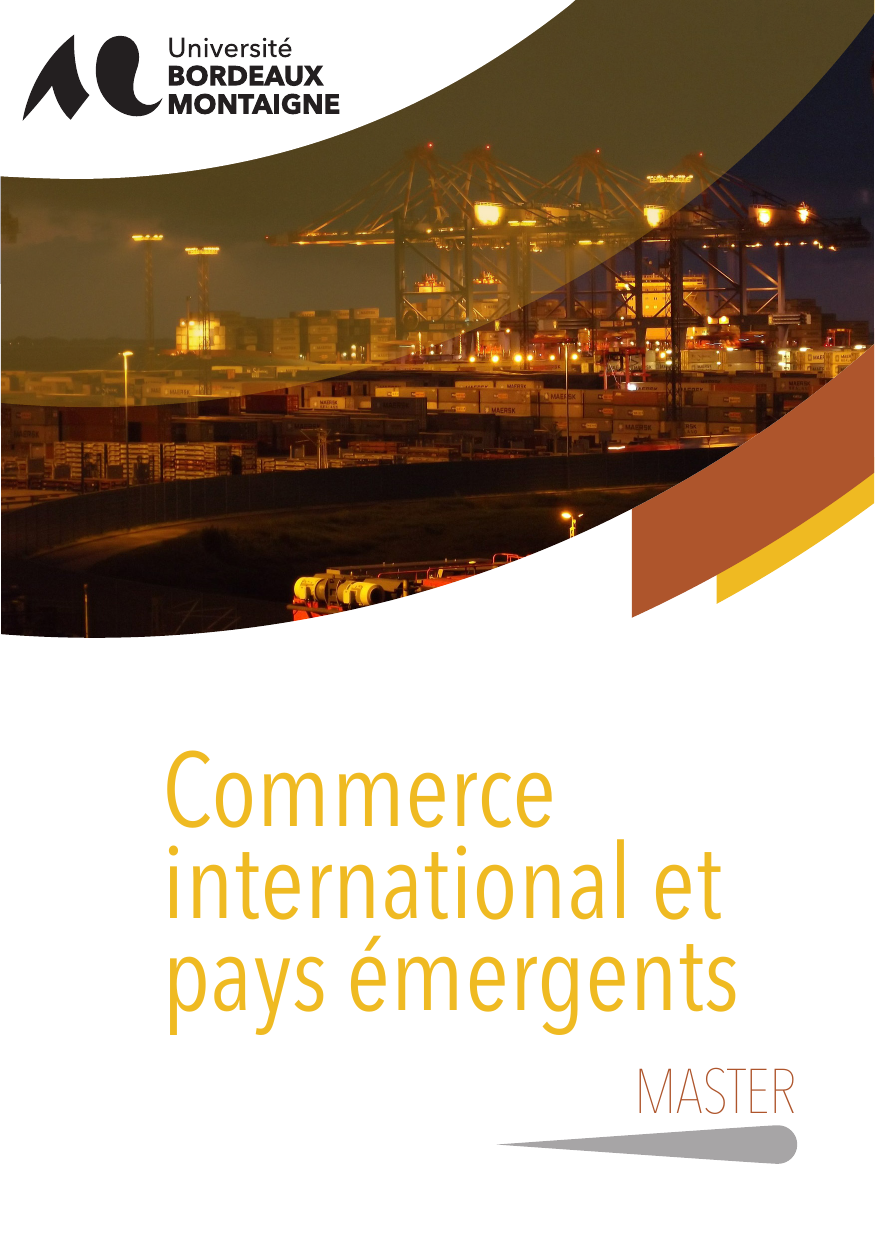 master 2 commerce international et pays  u00e9mergents