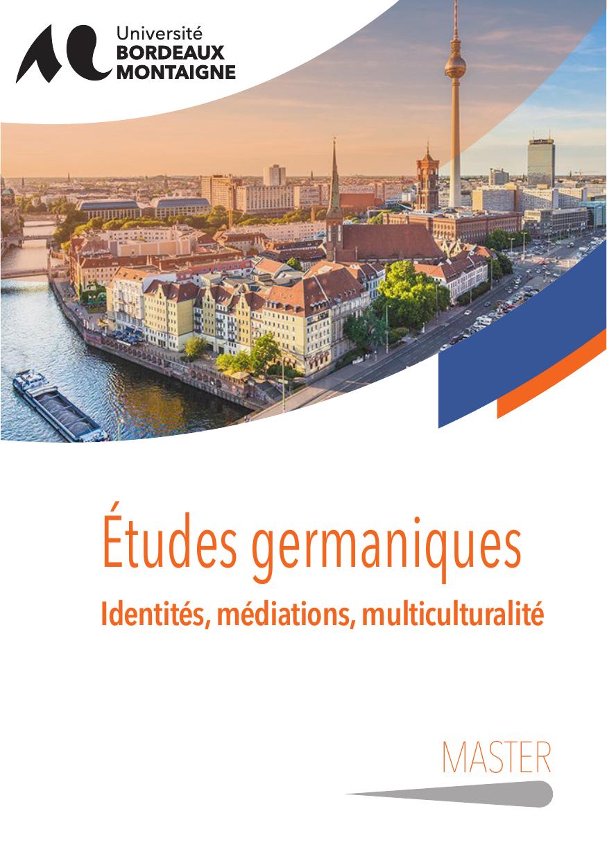master etudes germaniques