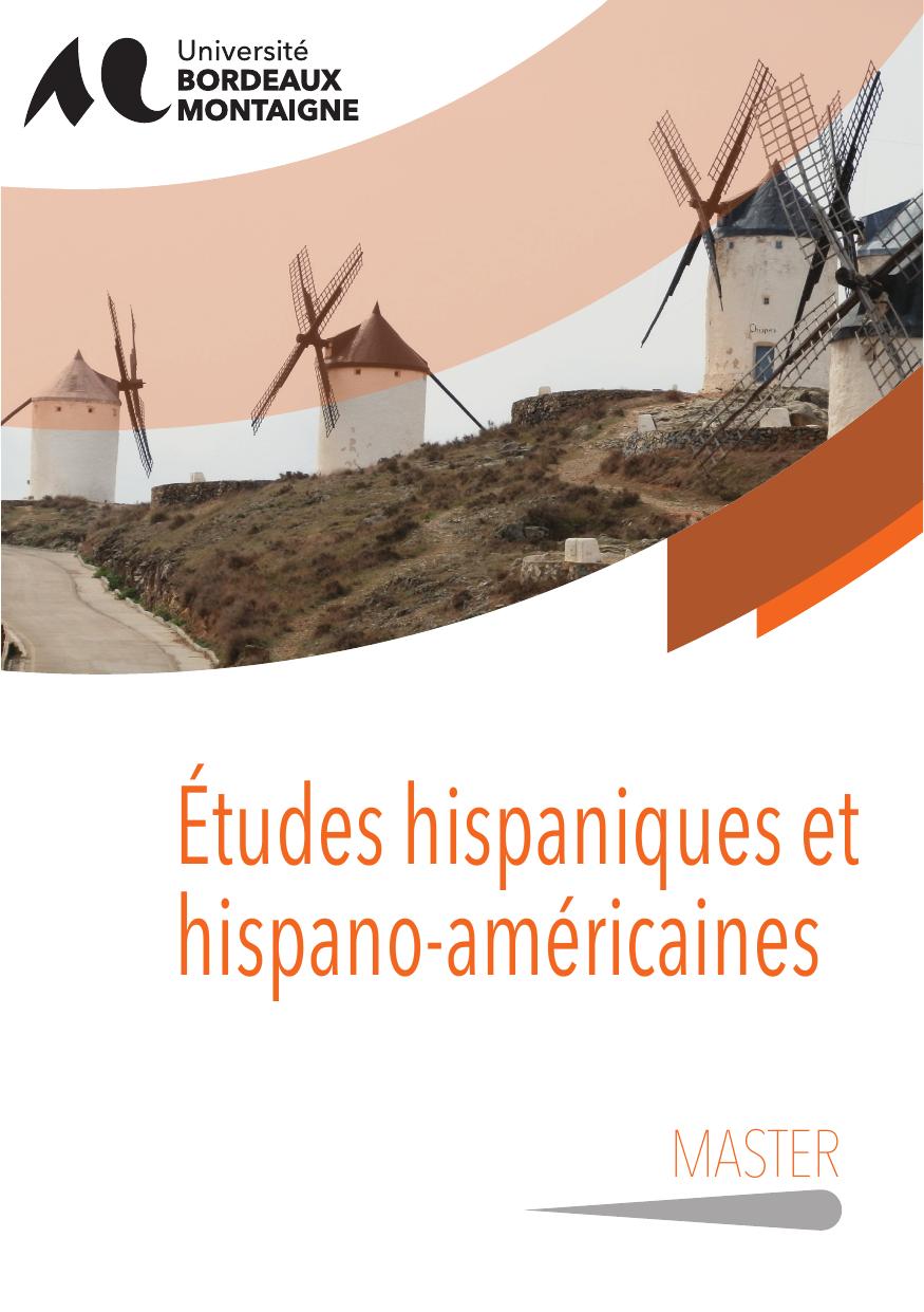 master etudes hispaniques et hispano