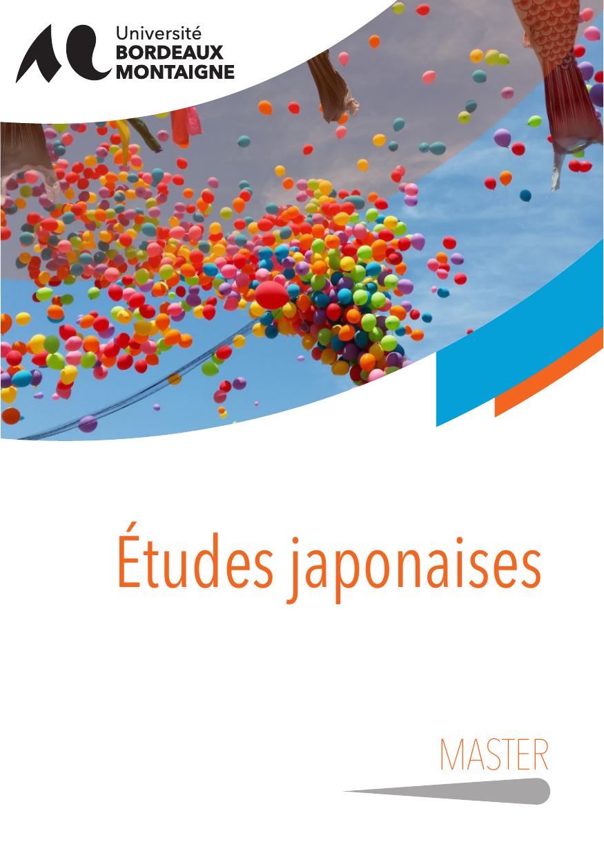master etudes japonaises