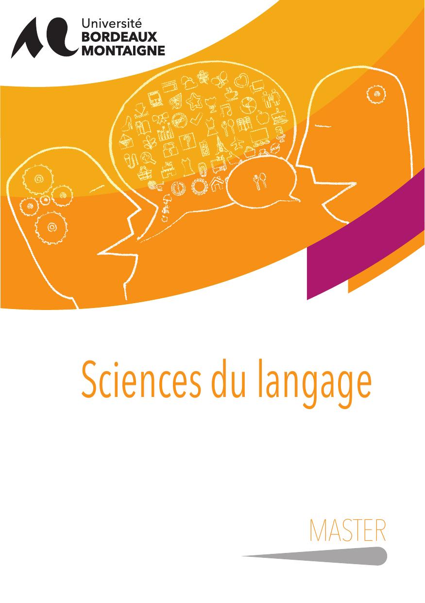 master 2 linguistique de corpus et outils informatiques